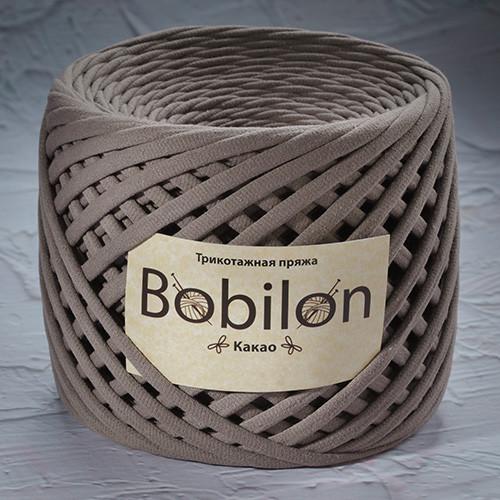 Трикотажная пряжа Bobilon Medium (7-9мм). Какао