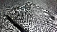 Декоративная защитная пленка для Motorola Droid HD рептилия черная, фото 1