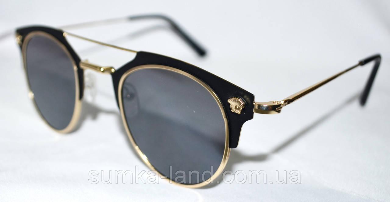 Женские солнцезащитные черные очки с оправой