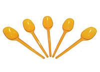 Ложка одноразовая стекловидная оранжевая (100 штук)