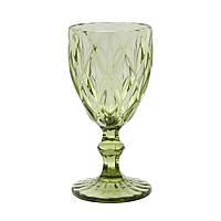 Винтажный бокал Изумруд из зеленого стекла, 250 мл