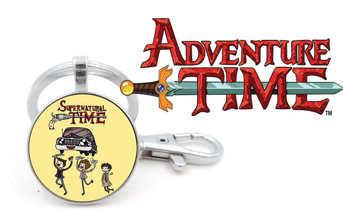 Брелок Adventure time Время приключений пародия на Сверхъестественное