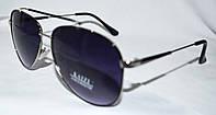 Солнцезащитные черные очки Kaizi унисекс в серебристой оправе