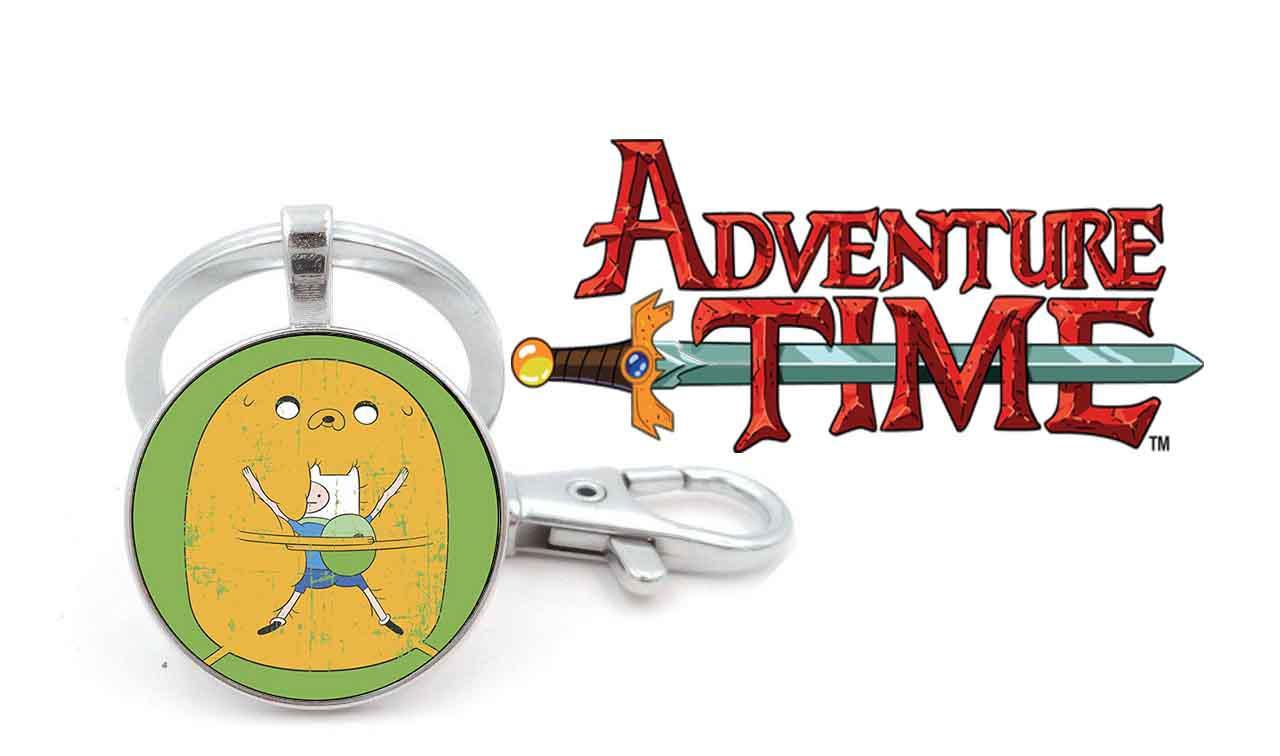 Брелок Adventure time панорамный Время приключений большой желтый Джейк