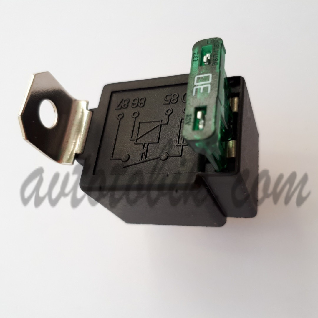 Реле 4-х контактное 12В/30А с предохранителем (Китай, NHG)