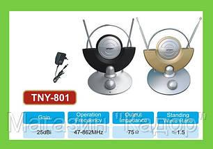 Антенна комнатная ТВ TNY-801 с переключателем каналов!Акция, фото 2