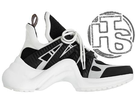 Женские кроссовки реплика Louis Vuitton LV Archlight Sneaker White/Black 1A43K5, фото 2