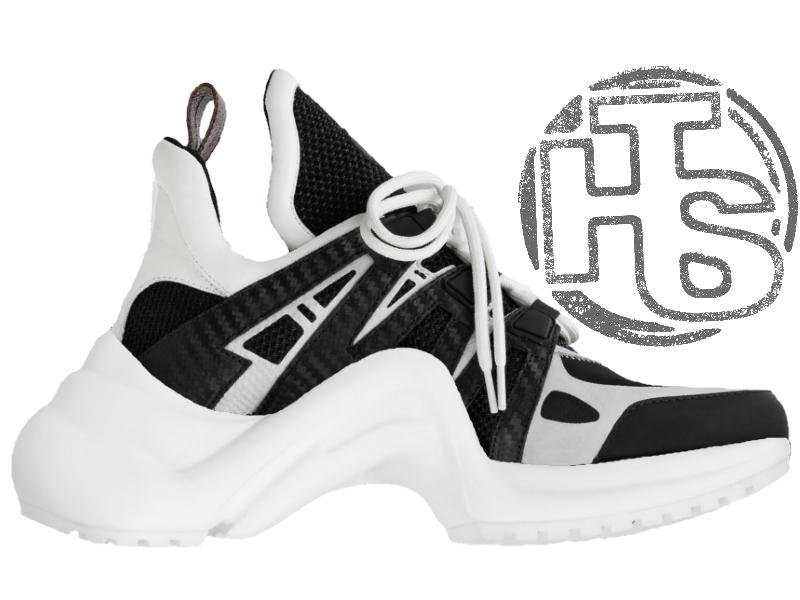 Женские кроссовки Louis Vuitton LV Archlight Sneaker White Black 1A43K5 -  Интернет-магазин