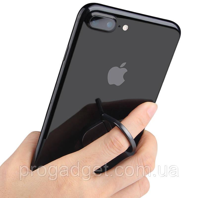 Кольцо держатель для iphone, смартфона, телефона от Wings of Bees black (черный)