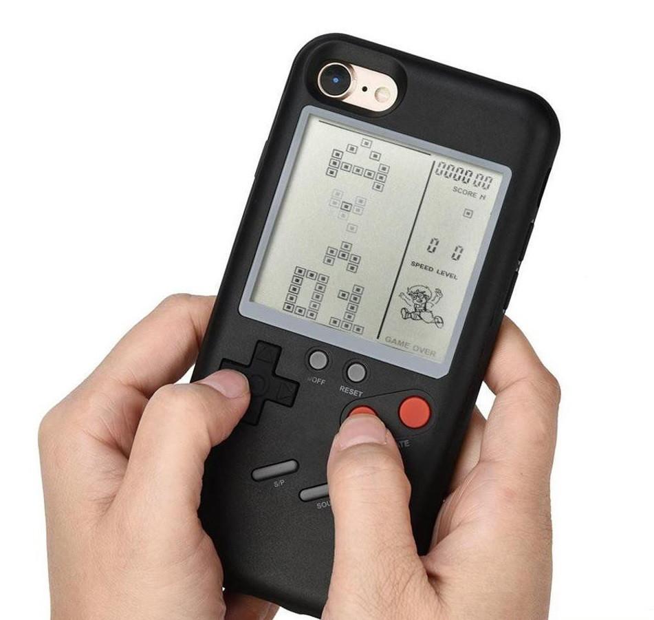Чехол панель TETRIS CASE LAUDTEC WANLE для смартфонов iPhone 6+/6S+ (PLUS) с игрой Тетрис Черный (SUN91146)