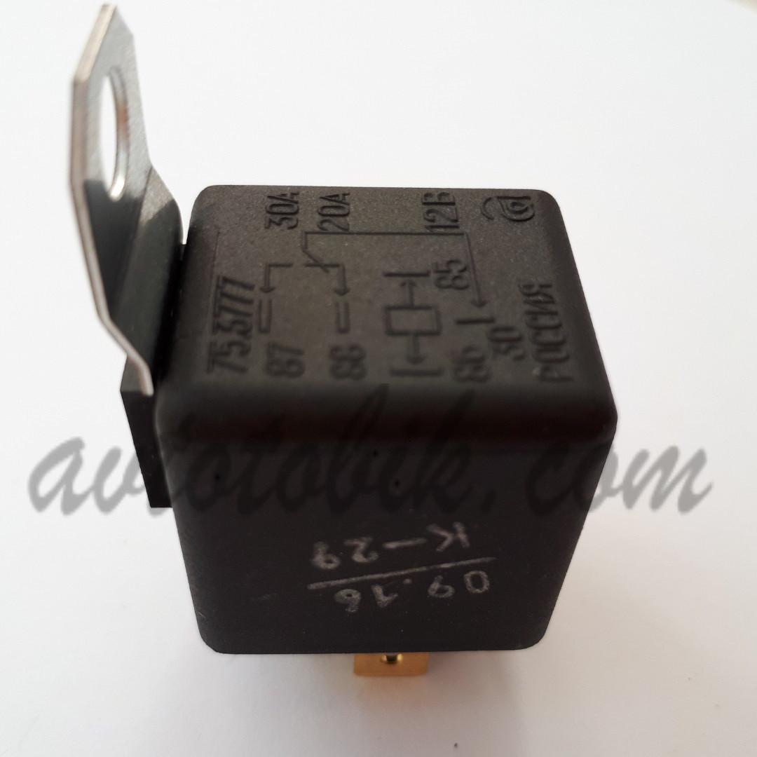 Реле 5-ти контактное 12В/20А/30А (Россия, Авар)