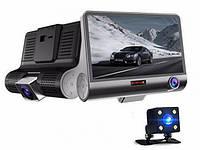 """Автомобильный видеорегистратор Quidux 4"""" три камеры FullHD"""