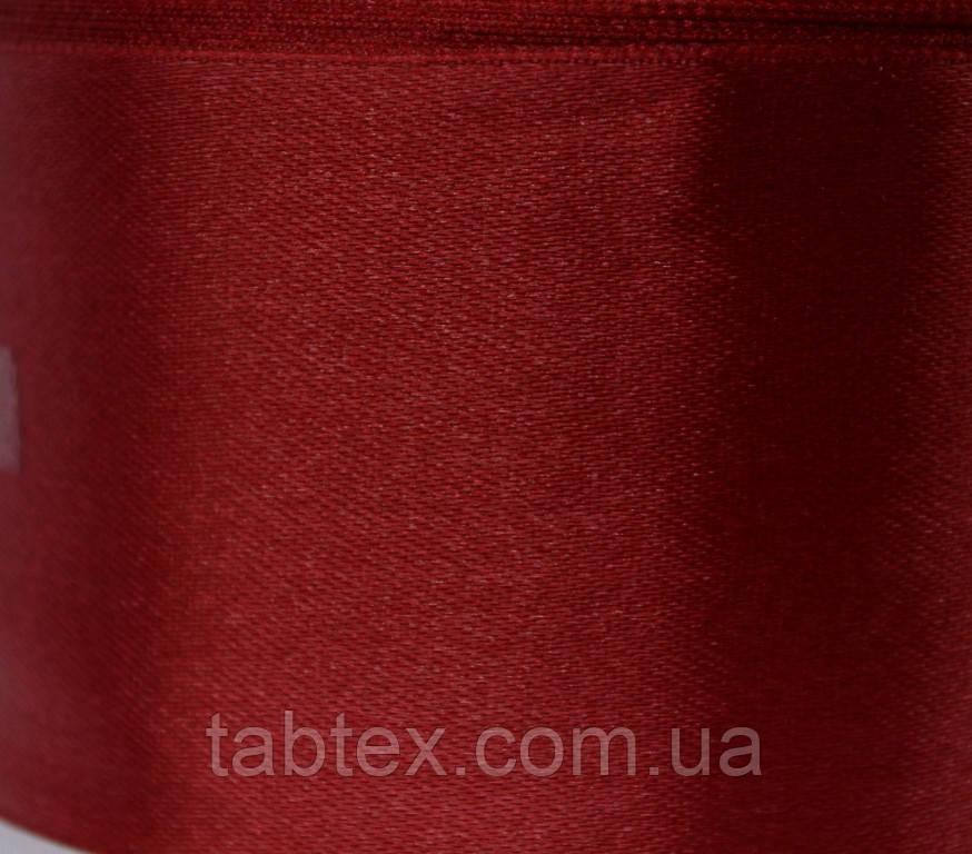 Тесьма атласная 50 мм №011 красн.25 ярд.