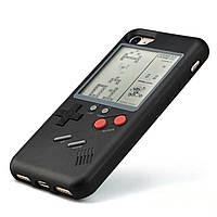 Чехол панель TETRIS CASE LAUDTEC WANLE для смартфонов iPhone 7+/8+ (PLUS) с игрой Тетрис Черный (SUN91148)