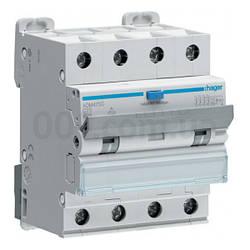 ADM475C 4P 6kA C-25A 30mA тип A, Дифференциальный автоматический выключатель, Hager