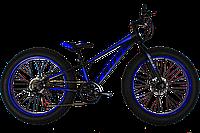 """Велосипед фэтбайк детский велосипед подростковый велосипед Cross Tank 24"""" Black-Blue"""
