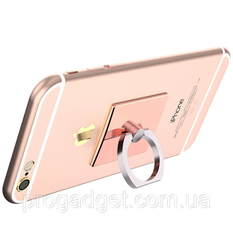 Кольцо держатель для iphone, смартфона, телефона от BIAZE C 30 rose gold (розовое золото)