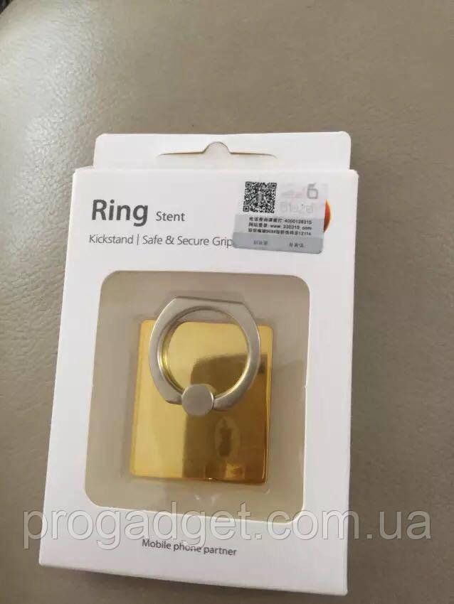 Кольцо держатель для iphone, смартфона, телефона от Baseus black silver (черный с серебром)