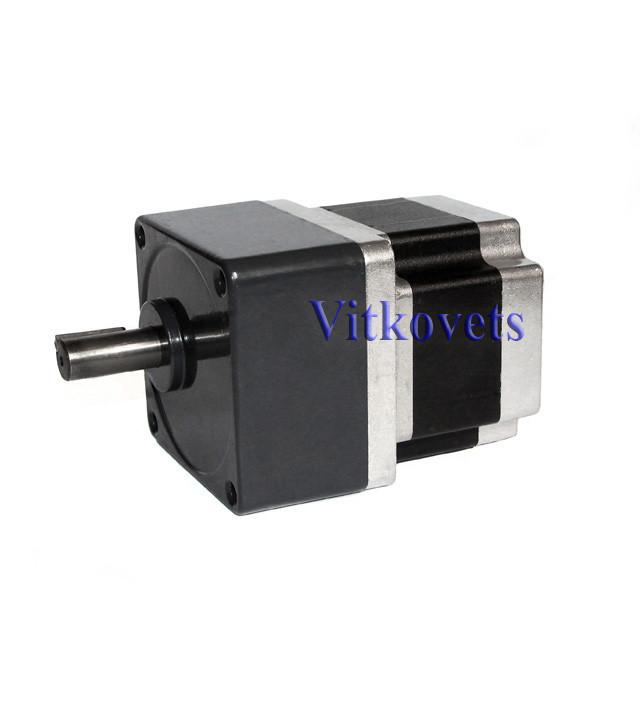 Шаговый двигатель 86HS6640A4-G15 c цилиндрическим редуктором (коэффициент редукции 1:15)