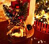 Дед Мороз 53 см в бордовой шубе с золотым узором 0454, фото 6