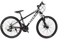 Велосипед горный, детский, велосипеды Titan Flash 24 Black-White-Gray