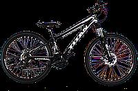 Велосипед горный, велосипед, велосипеды Titan Flash 26 Black-White-Gray
