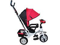 Велоколяска, велосипед трехколесный, велосипед детский Titan Baby-Trike White-Red (пена)