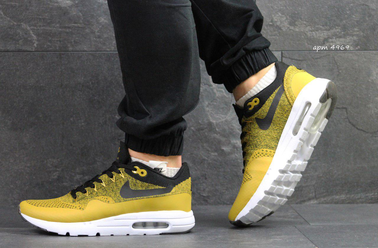 8481f335 Модные кроссовки Nike Air Max 1 Flyknit,светло коричневые -  Интернет-магазин Дом Обуви