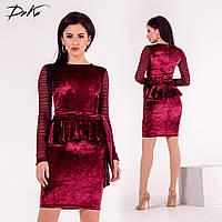Бархатное облегающее платье 2 цвета, фото 1