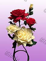 Ростовая композиция из 5 роз VIP, фото 1