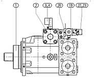 Гидронасос Bosch Rexroth A4V - A4VBV450HS-30R-LRH10N00Z и его запчасти