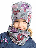Демисезонная шапка для девочек Peluche S18 TU 84 EF Flowers. Размер 3/5, 6/8., фото 2