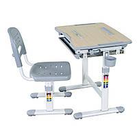 Комплект парта и стул-трансформеры Bambino Grey, FunDesk