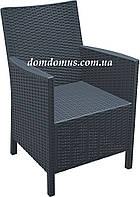 Кресло пластиковое California, Siesta, Турция серое