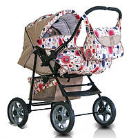 Детская коляска-трансформер Trans Baby Dolphin, абстр.+беж