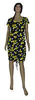 Халат домашний женский летний 03235 Lace больших размеров, хлопок, р.р.50-62