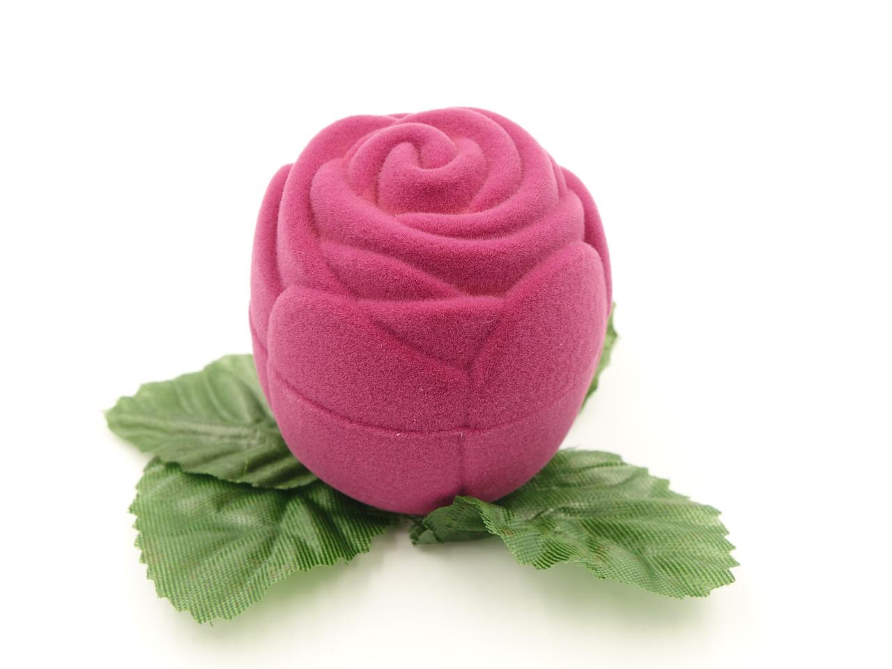 """Футляр для кольца """"Роза маленькая"""" фуксия"""