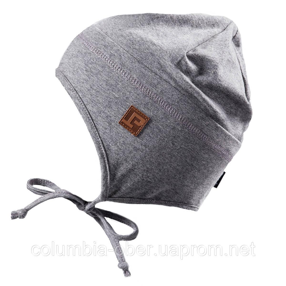 Демисезонная шапка для мальчика Peluche S18 TU 57 EG Gray Mix. Размеры 3/5, 6/8.