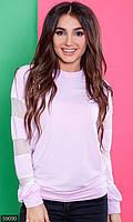 Свитшот женский размер 42-44; 46-48 цвет лиловый сетка, трикотаж двунитка,
