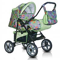 Детская коляска-трансформер Trans Baby Dolphin, салатовый+абстр.
