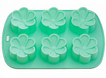 Форма для выпекания кексов Fissman ЦВЕТЫ (Силикон)