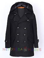 """Стильное черное пальто для мальчика 110-116 рост """"Гарвард"""" весна-осень"""