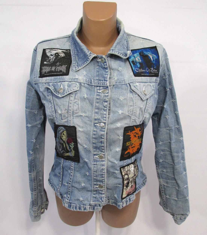 Винтажная, эксклюзивная куртка NE, M (12), (протерты локти), с Нашивка