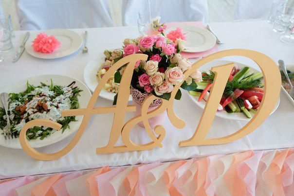 Герб свадебный, инициалы на свадьбу