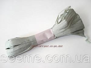 Рафия бумажная, цвет серый цемент, 3 метра.