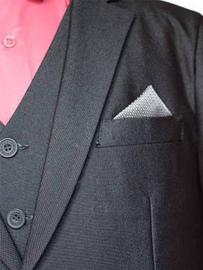 """Детский школьный костюм для мальчика """"Элит"""" серый матовый, фото 2"""
