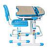Комплект Парта и стул-трансформеры Sorriso Blue, FunDesk
