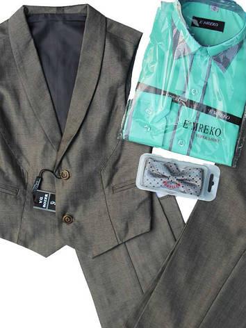 Детский костюм для мальчика (жилет+брюки) бежевый, фото 2
