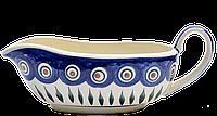 Керамический соусник с ручкой Перо павлина, фото 1