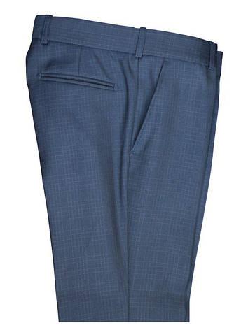 """Подростковый школьный костюм для мальчика """"Барселона"""" приталенный (узкач) синий в широкую клетку, фото 2"""